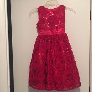 Girls red dress size 7